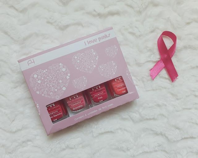 Coleção de esmaltes I Love Pinks  Ana Hickmann
