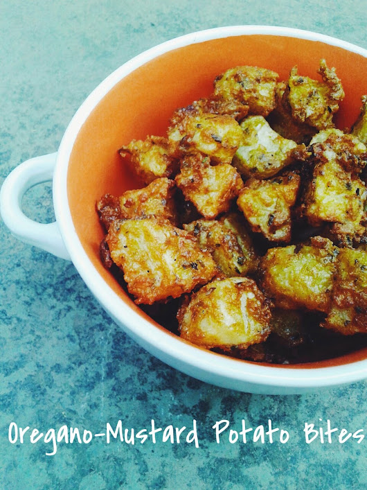 Oregano-Mustard Potato Bites