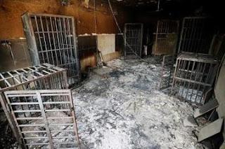 قوات الحشد الشعبي تعثر  على سجن بداخله 18 جثة في تلعفر