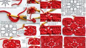 """Cómo tejer un """"square"""" o cuadrado crochet paso a paso"""