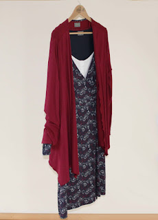 Su Dress with Molly Cardi in Red