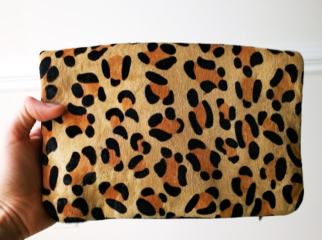 Stitch Fix Review Leopard Clutch Front
