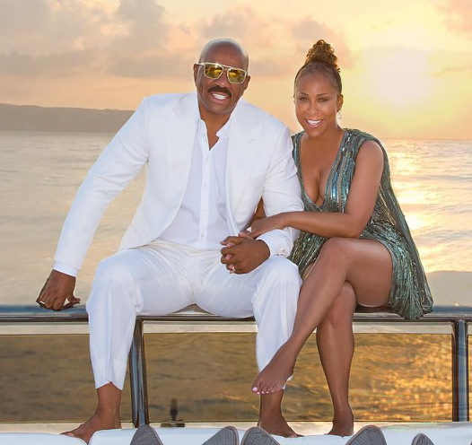 Photo News Steve Harvey Amp Wife Marjorie On Vacation In