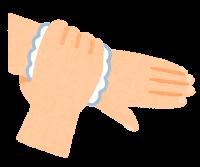 石鹸で手を洗う順番のイラスト(手首)