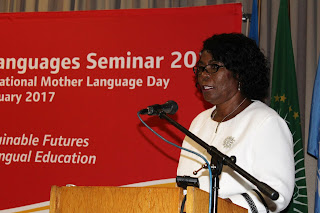 Honourable Anna Esther Nghipondoka, Deputy Minister, MoAC, delivering a keynote address