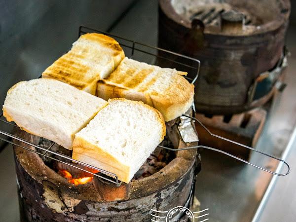 Duck Egg Kaya Charcoal Toast @ Kheng Hai Coffee Shop, Simpang Ampat, Penang