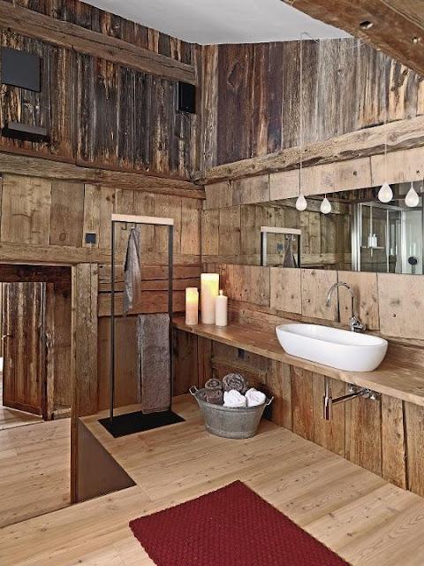 Ρουστίκ στυλ στο μπάνιο σας