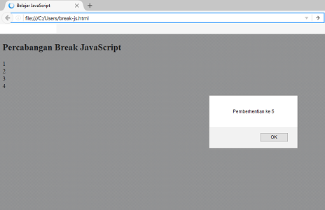 break javascript