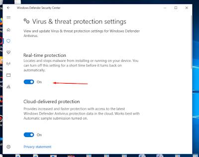 Cara Menghentikan Windows Defender Security Center
