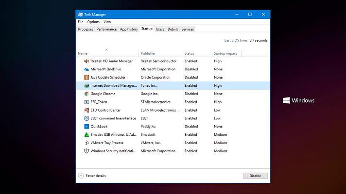 Cara disable program saat start up windows