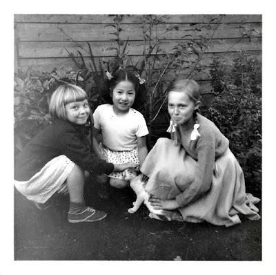 Elena and Tatiana Vassilieff aka Elena Vasilev and Tanya Sarsfield, in early 1950's Tokyo, Japan