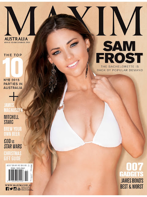 Football Players, @ Sam Frost - Maxim, Australia,  December 2015