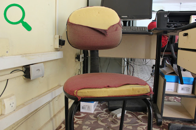 Cadeira na recepção da Prefeitura Municipal de Buenos Aires