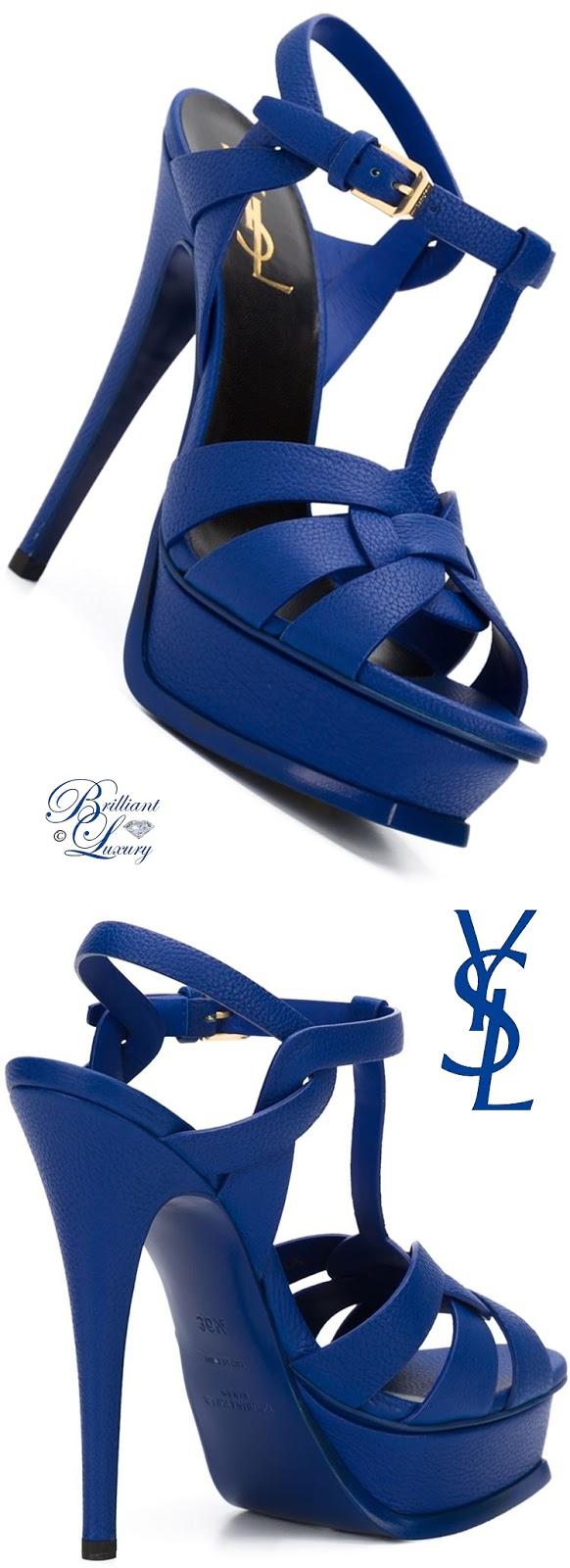 Brilliant Luxury ♦ Saint Laurent Tribute Sandals
