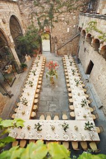 rectangle tables wedding layout