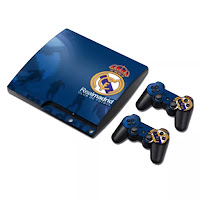 Skin Sticker Cover Decal for PS3 PlayStation 3 Slim with 2 Controllers