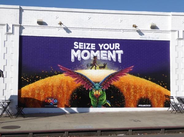 Coco Seize your moment mural ad
