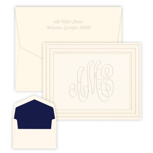Embossed Graphics personalized note cards and note paper make great gifts.