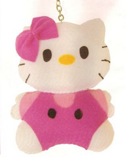 boneka hello kitty untuk gantungan kunci dari kain flanel