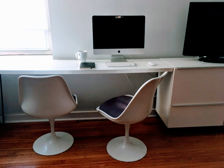 I Ve Been Dreaming Of A White Office With Floating Desk For Some Time Real Home That Would Bring All Our Gear Into One Place And