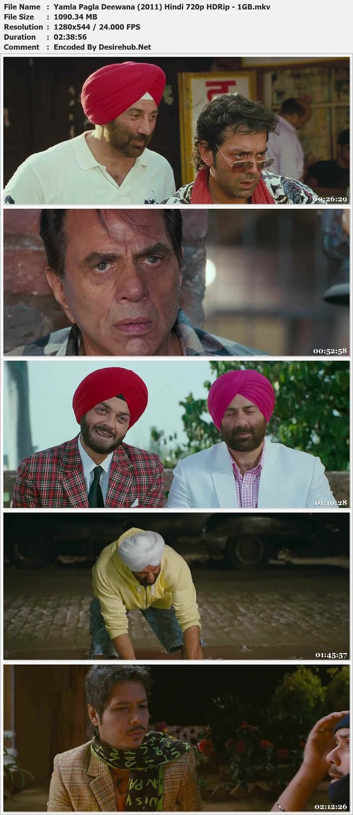 Yamla Pagla Deewana (2011) Hindi 720p HDRip – 1GB Desirehub