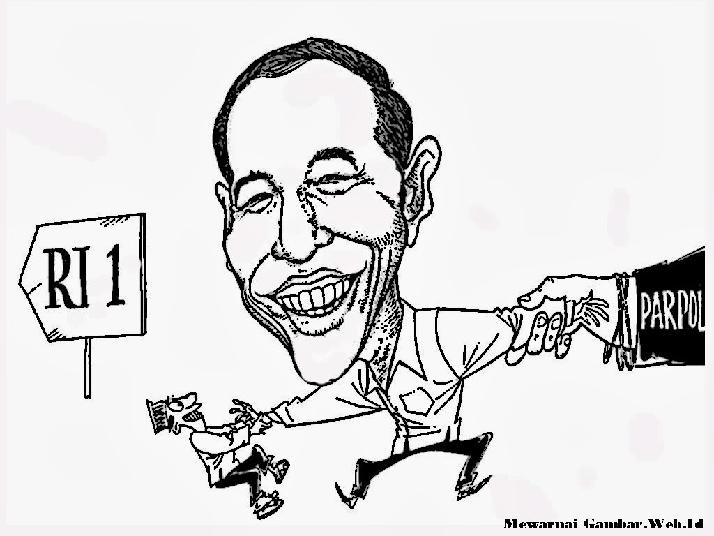 Mewarnai Gambar Jokowi Mewarnai Gambar