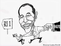 Mewarnai Gambar Karikatur Jokowi Kartun Joko Widodo Maju Sebagai Calon