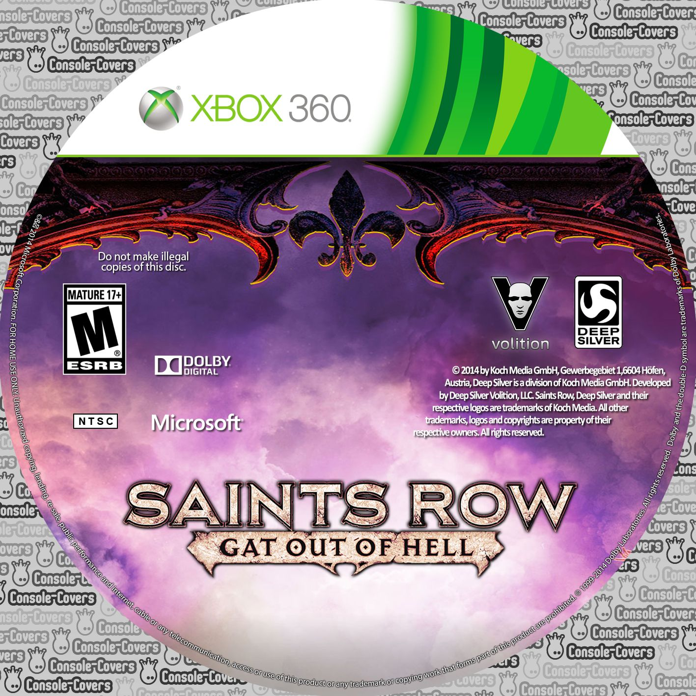 Label Saints Row Gat Out Of Hell Xbox 360