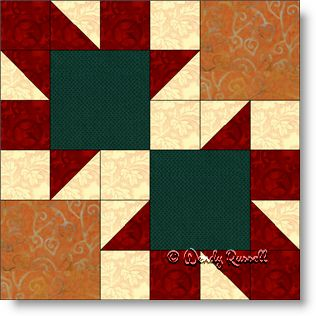 ARROWS quilt block image © Wendy Russell
