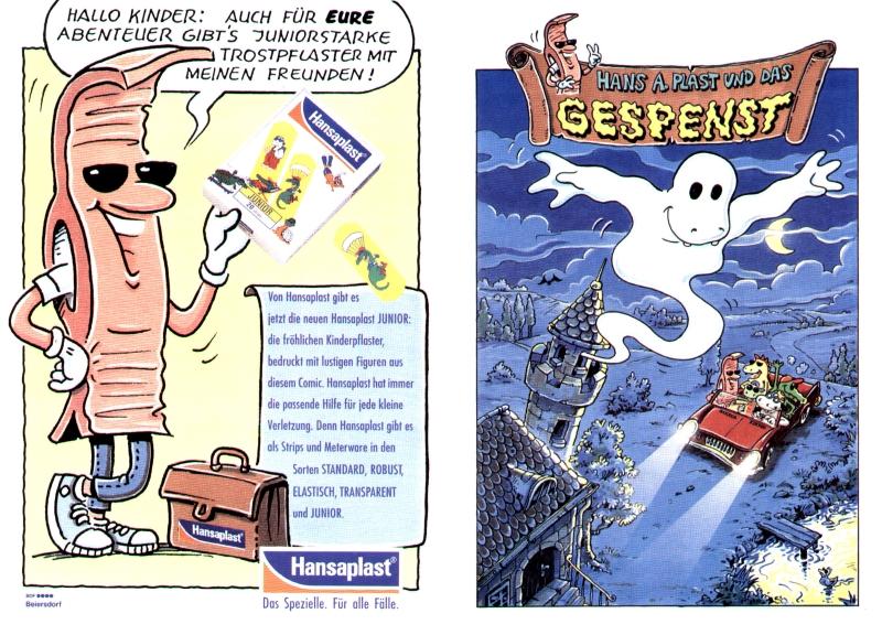 Beiersdorf, Hansaplast, Markenprodukt, Markenwerbung, Comic, Illustrator, Fred Fuchs, Texter, Konzept, Robert Welz