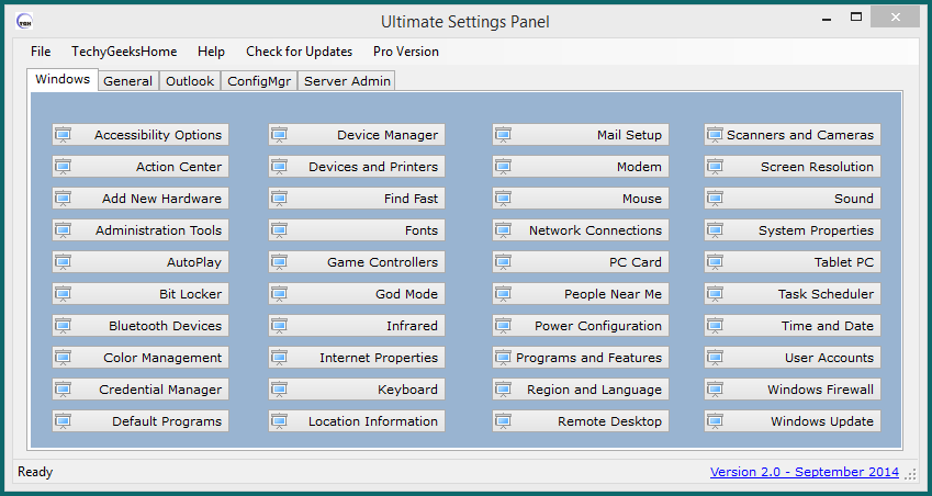 Ultimate Settings Panel version 2.0 Released 1