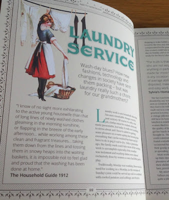 Article about laundry in the Pretty Nostalgic Year Book