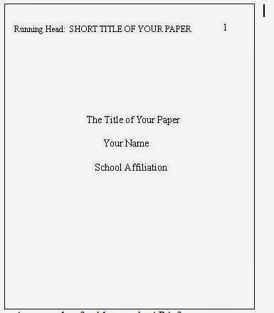 apa title page template 6th edition - studnet corner apa style format
