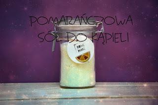 Pomarańczowa sól do kąpieli DIY