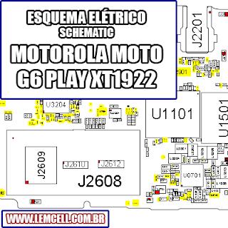 Esquema Elétrico Smartphone Motorola Moto G6 Play XT1922 Manual de Serviço service manual schematic