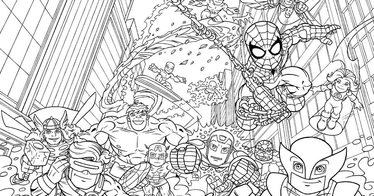 hero squad coloring pages - photo#7