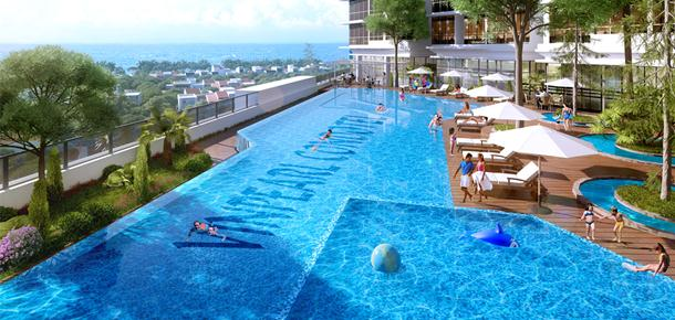 vinpearl empire condotel pool