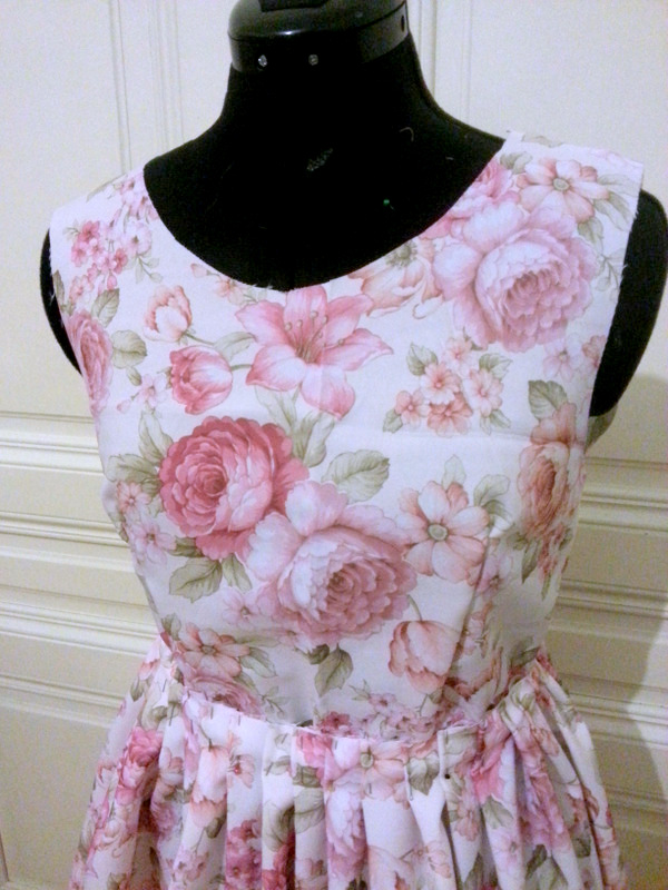 floral lolita dress - Silver Afternoon - Auris Lothol
