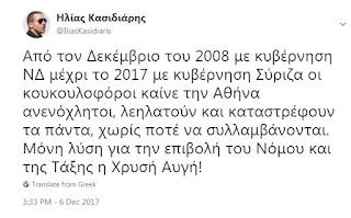 Ανακοίνωση Χρυσής Αυγής για τα επεισόδια στην Αθήνα