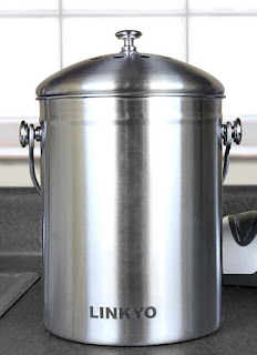 LINKYO Kitchen Compost Bin - 1 Gallon Stainless Steel Composter #LINKYO