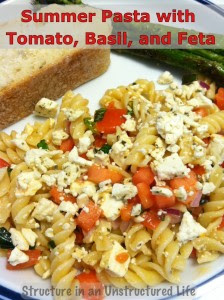 Structure in an Unstructured Life: Summer Pasta Salad