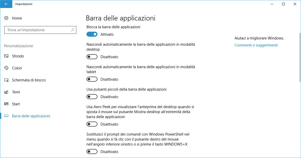Impostazioni-barra-applicazioni