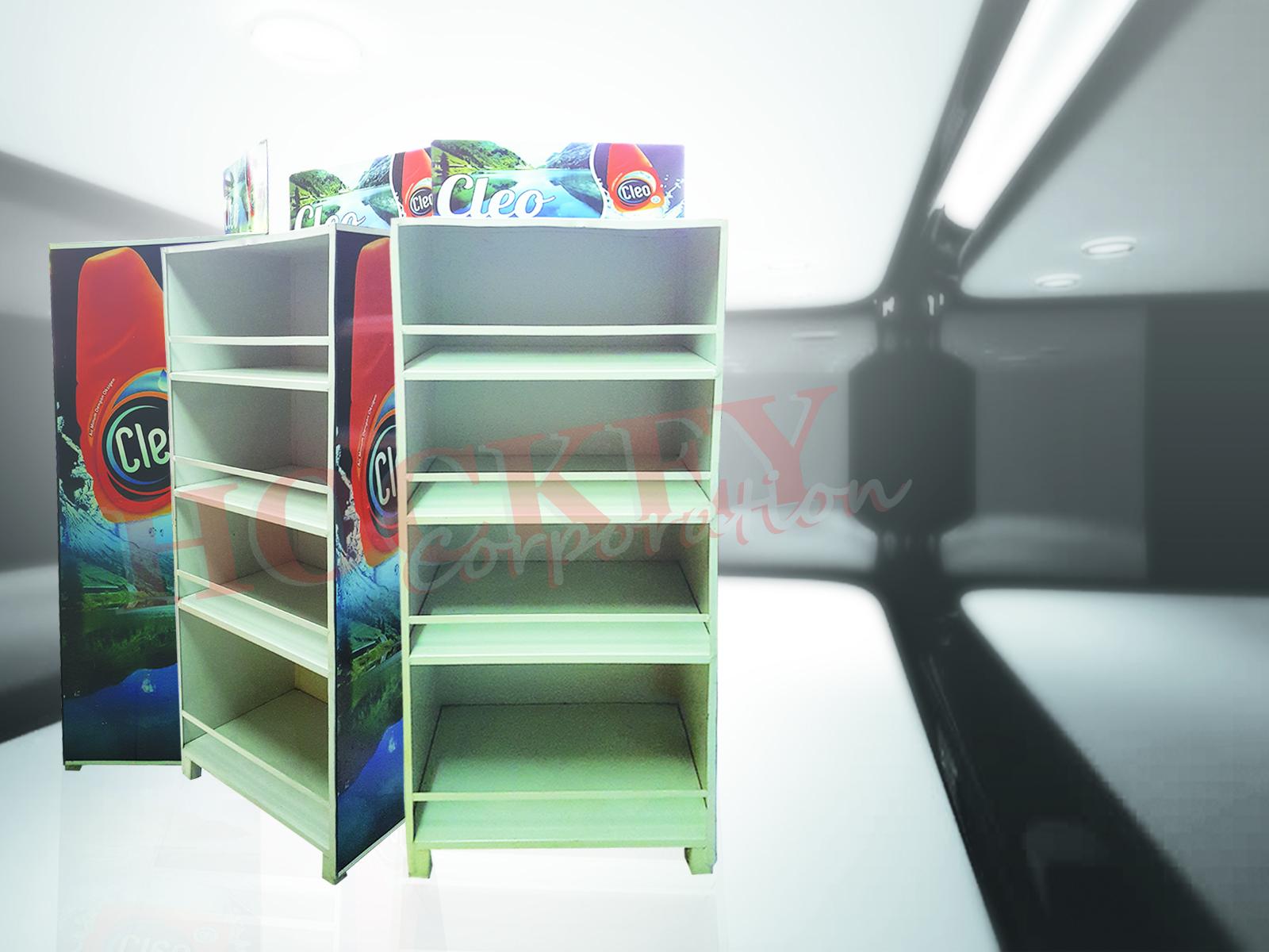 Rak POP promo display besi minimalis