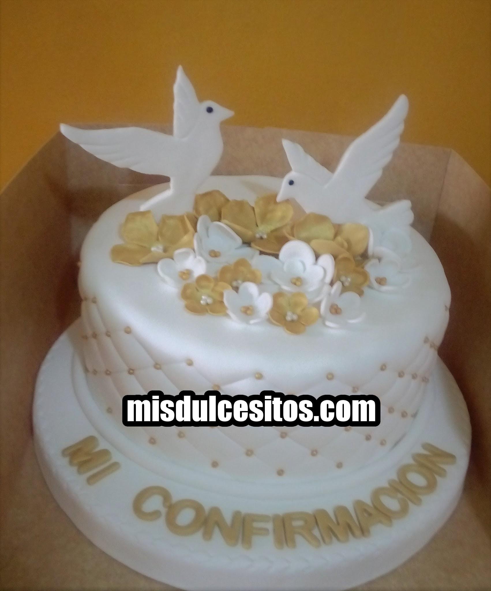 Torta Mi Confirmación. Venta de tortas para Bautizo y Confirmación en Lima, Perú.