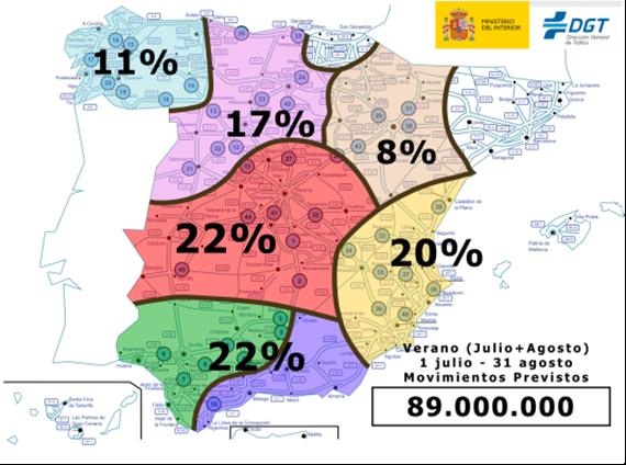 operación salida de la dgt en verano 2017 con 89 millones de