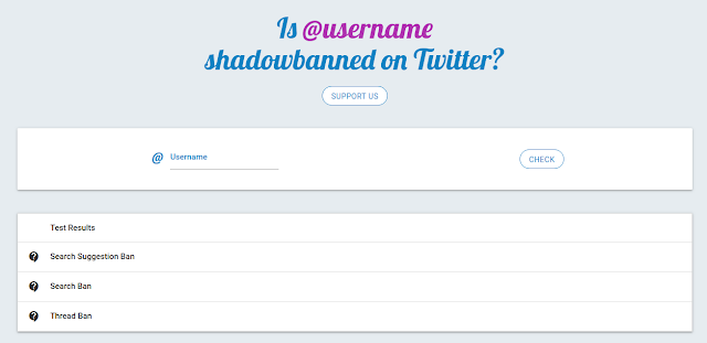 TwitterShadowBan - Twitter Shadowban Tests