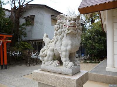 大仁八阪神社狛犬