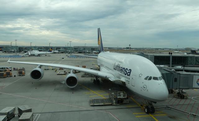 Flug mit Lufthansa A380 von Frankfurt nach San Francisco