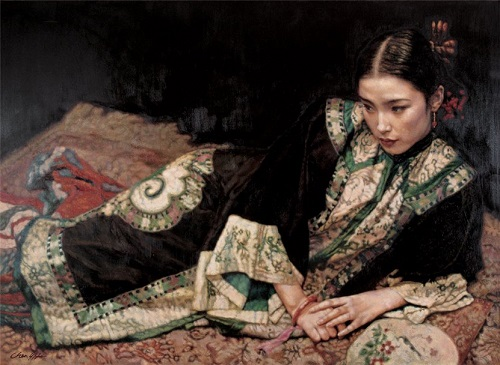 Realistic oil painting by Chen Yifei