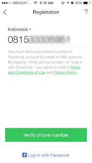 Cara Masuk Line Dengan Nomor Telepon